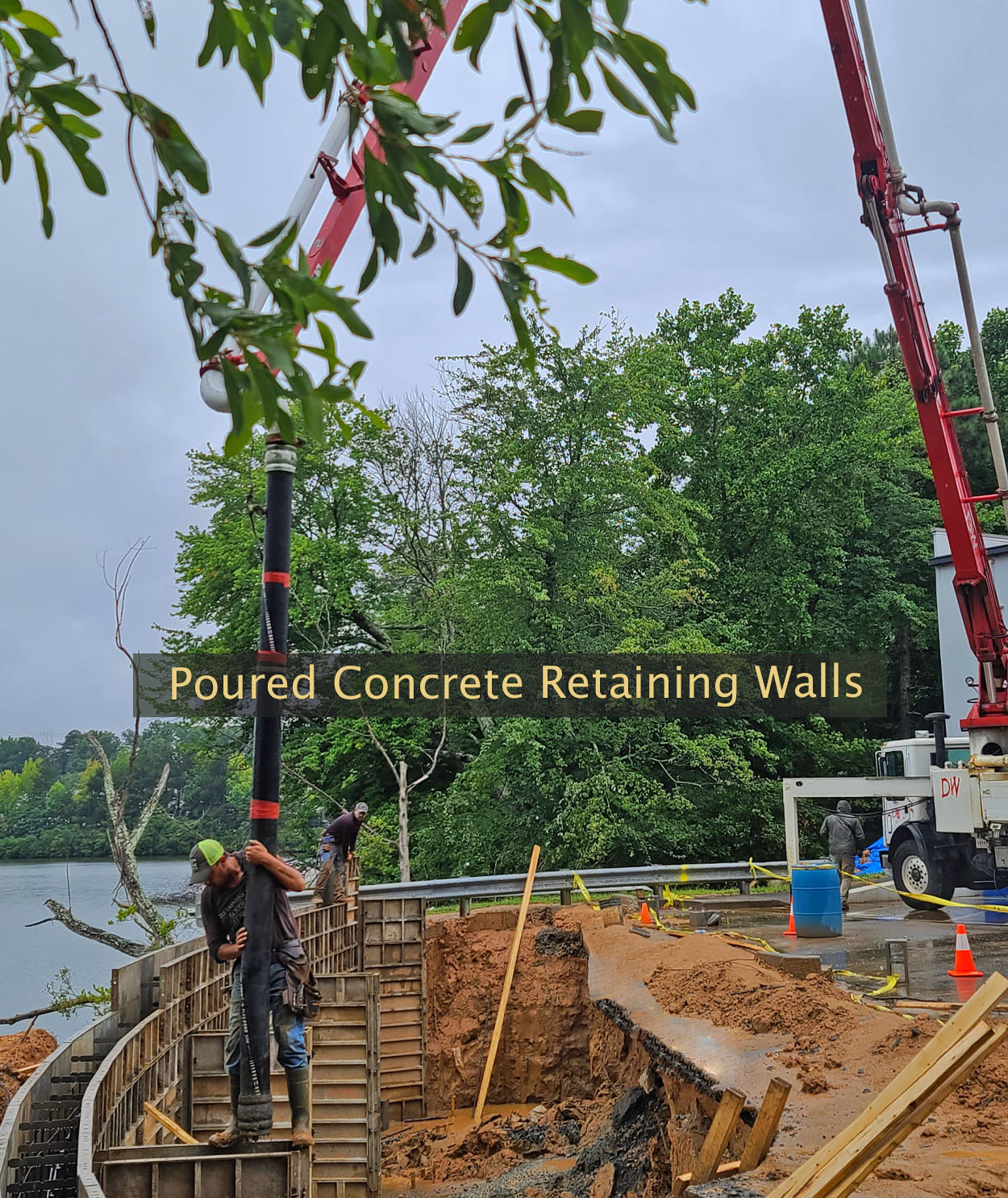 retaining walls and concrete